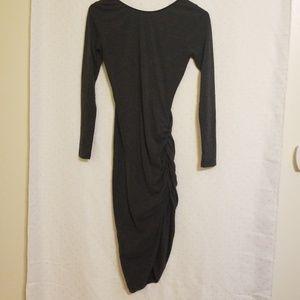 Nasty Gal | Gray Midi Dress